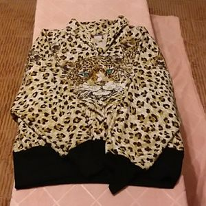 striking leopard shirt